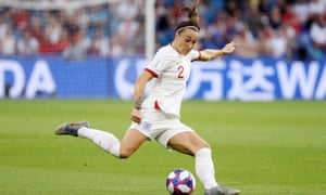 Lucy Bronze during the 2019 Women's World Cup quarter-final against Norway. She is likely to be a key figure for Phil Neville at Euro 2021.