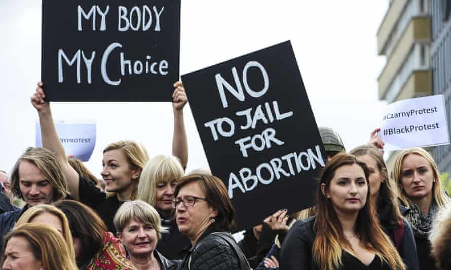 The 'Black Monday' protest against proposed ban on abortions in Poland.