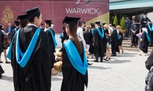 A graduation ceremony at Warwick University.