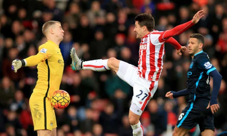 Bojan Krkic in action against Manchester City