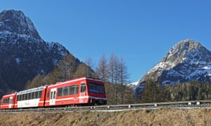 The Mont Blanc Express train.