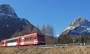 The Mont blanc Express in the Chamonix valley.