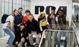 Soundskool students visiting RCA Records.