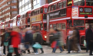 Buses in Oxford Street