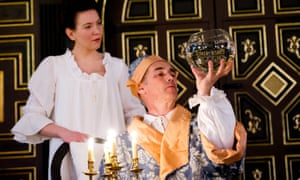 Mark Rylance as King Philippe and Melody Grove (Isabella, Queen Of Spain) in Farinelli and the King