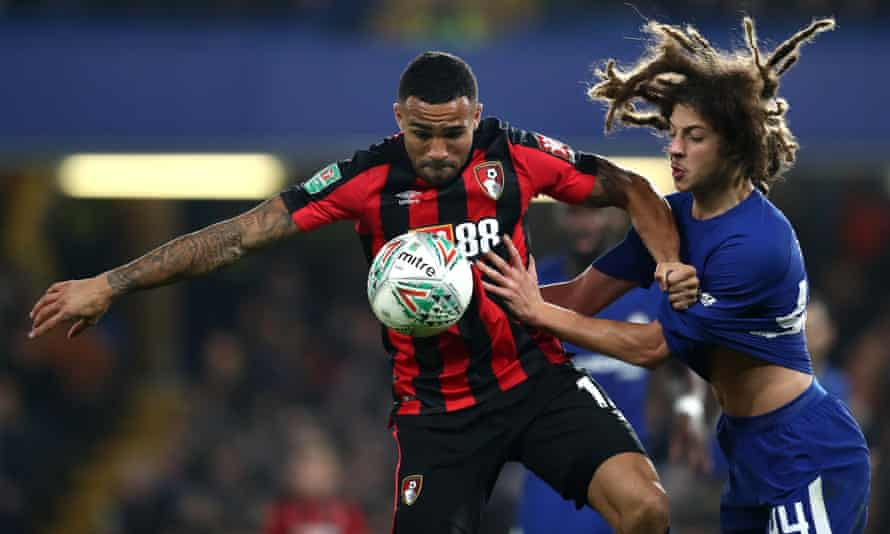 Bournemouth's Callum Wilson and Chelsea's Ethan Ampadu