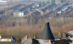 A renovated former pottery chimney in Stoke-on-Trent.