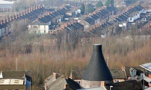 Terraced housing in Stoke-on-Trent