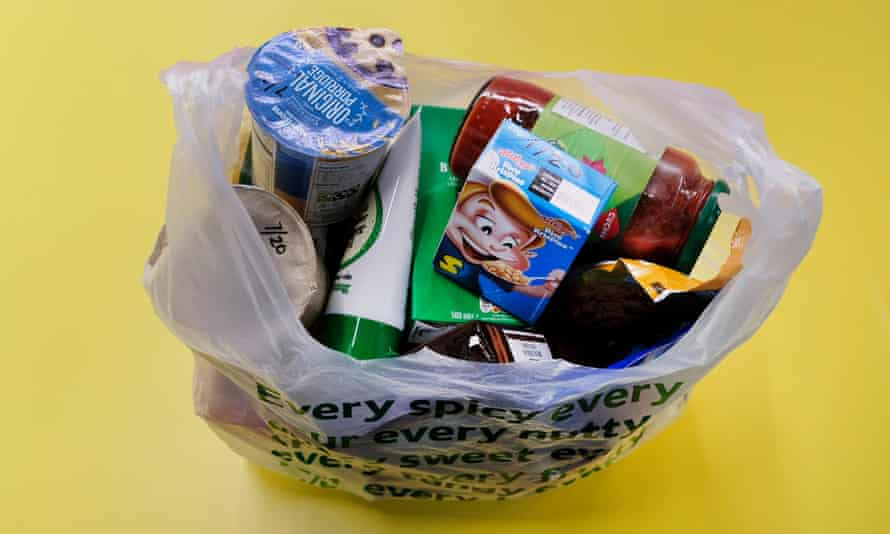 A typical food parcel.