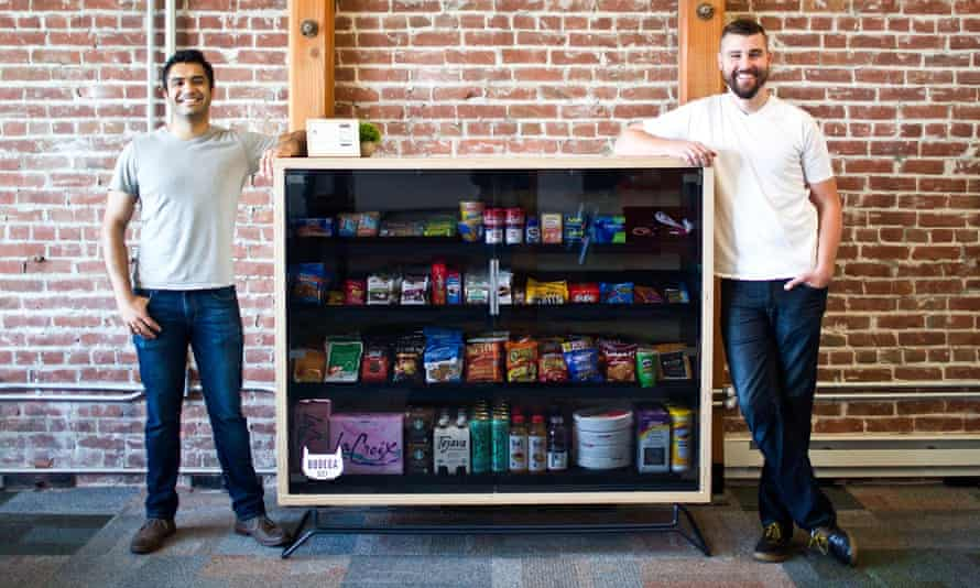 Bodega, which launched on Wednesday, said: 'Centralized shopping locations won't be necessary, because there will be 100,000 Bodegas spread out, with one always 100 feet away from you.'