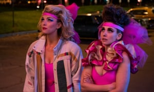 Betty Gilpin and Alison Brie in Glow.