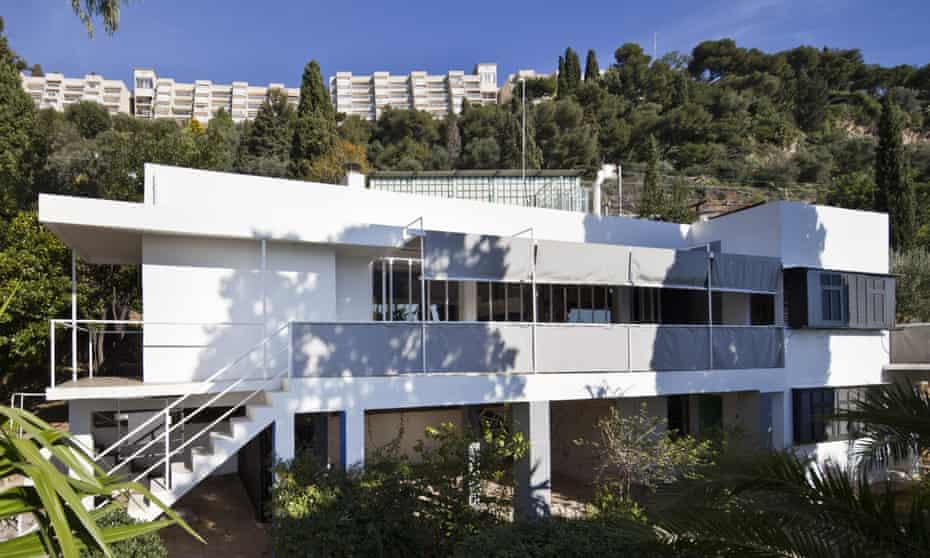 Modernist masterpiece, Eileen Gray's E-1027 villa at Cap Moderne, Roquebrune, France.