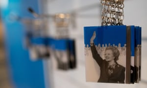 Margaret Thatcher keyrings for sale at the Conservative Party conference 2016 this month.