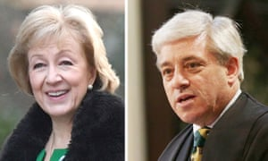 The leader of the House, Andrea Leadsom, and the Speaker, John Bercow.