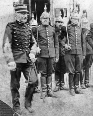 Alfred Dreyfus on his release from prison and restoration to the French army.