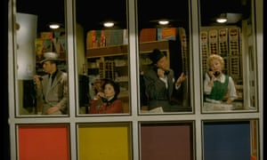 Talking their heads off ...a still from Guys and Dolls, based on the stories of Damon Runyon.