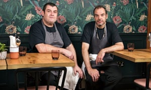 Trainees Andrew Cannon, left, and Nigel Adams at Brigade Bar + Kitchen.