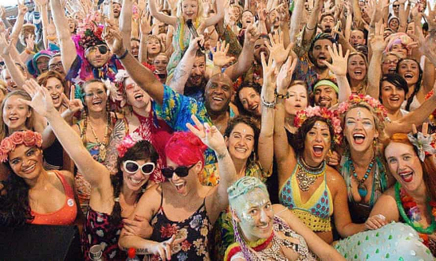 Detox dancing … partygoers at a Morning Gloryville event.