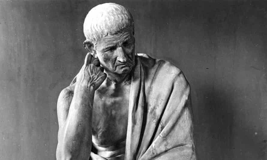 Statue of the Greek philosopher Aristotle in the Palazzo Spada in Rome