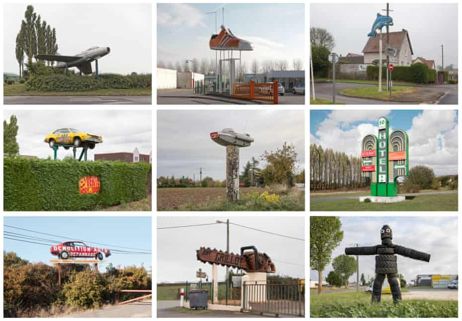 What no Eiffel tower? … company signs from the Atlas des Régions Naturelles.