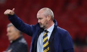 Steve Clarke during Scotland's draw with Israel