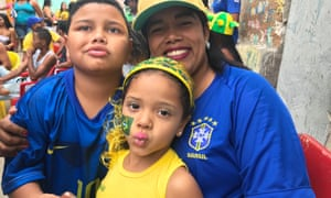 Maria Quirino, 26, single mother and her children Lucas, 7, and Maria Eduarda, 5.