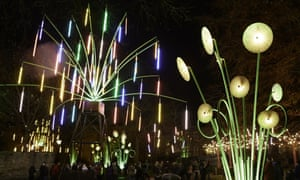 The Garden of Light, a light sculptue by French art collective Tilt, will be in Leicester Square. Here it is shown as it appeared at Lumiere Durham.