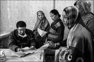 Dr Ashutosh Tyagi, a GP at Bhopal's Shakir Ali Khan hospital, at his consultation clinic for victims of the Union Carbide chemical plant disaster.