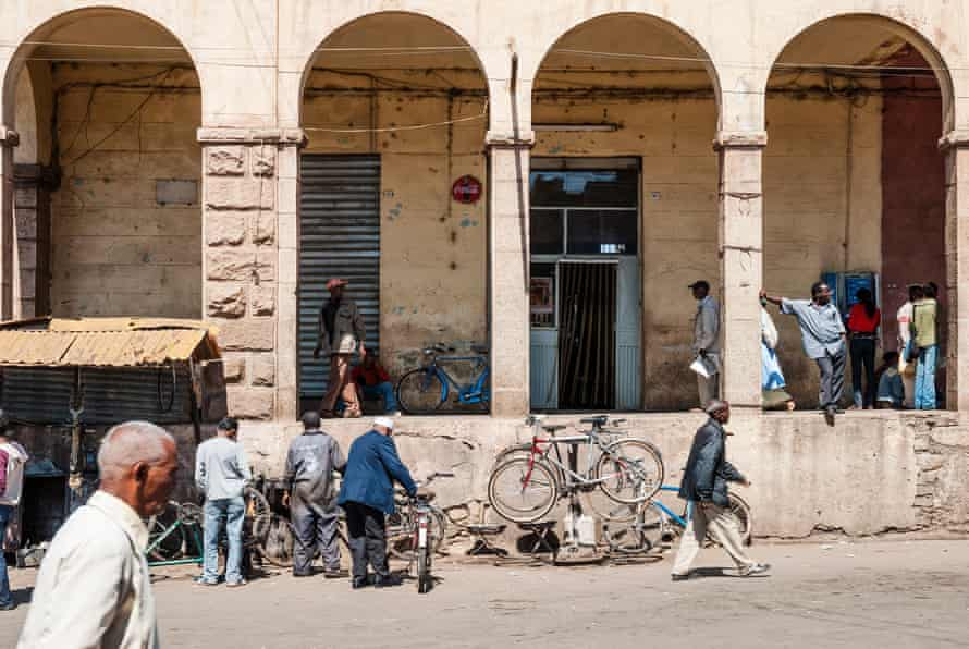 The central market area in Asmara.