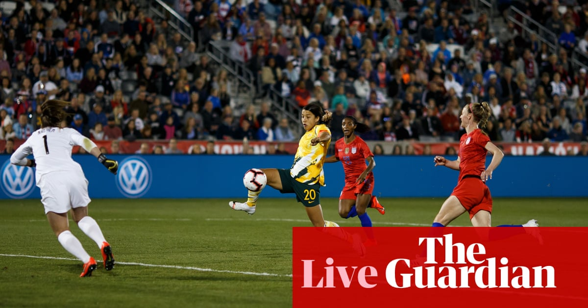 474e3ddf66e USA 5-3 Australia  women s football international friendly – as it happened