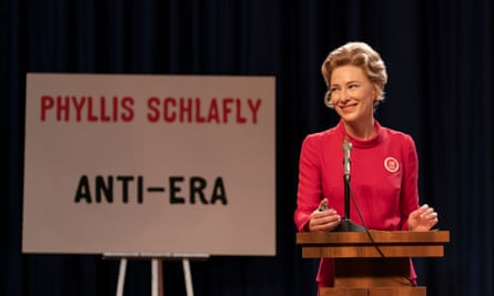 Cate Blanchett as Phyllis Schlafly in Mrs America.