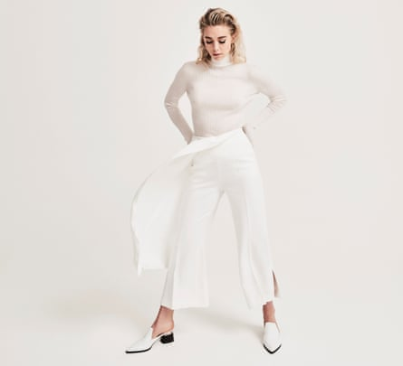 'In so many scripts, the women are seen through a male lens. It's cartoony': Vanessa Kirby wears roll neck by Jil Sander (matchesfashion.com); trousers by Roland Mouret (brownsfashion.com) and shoes by Nicholas Kirkwood (farfetch.com).