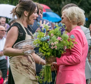 Candice Brown, the very last winner of the BBC's Great British Bake Off, with judge Mary Berry.