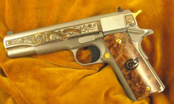 The Colt .38 special edition with an engraved image of Emiliano Zapata.