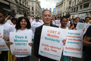 Peter Tatchell and members of the Peter Tatchell Foundation