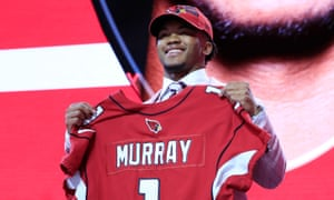 Kyler Murray takes in the cheers after being picked No1 overall in the 2019 draft