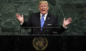 Donald Trump at the United Nations, September 2017