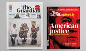 Guardian Weekly before and after redesign