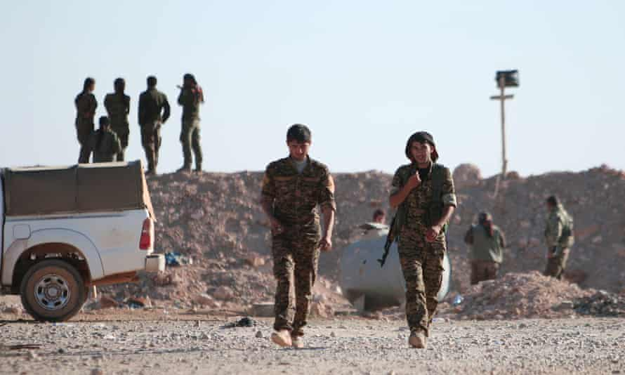 Members of the Syrian Democratic Forces (SDF) in Syria