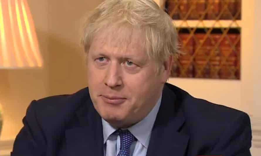 Boris Johnson is interviewed on the BBC's Breakfast programme.