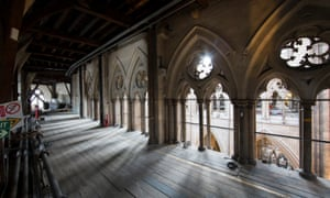 The cleared triforium in Westminster Abbey, where a new museum space will open in 2018.