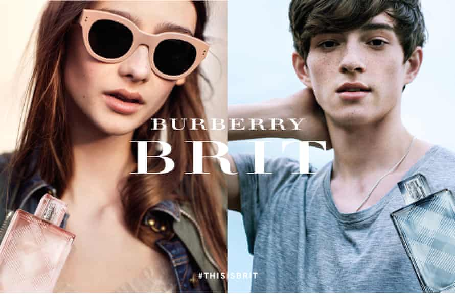 Models in the Burberry Brit Fragrances Campaign.