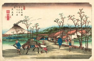 Urawa Station, 1835 (Eisen, plate 4)