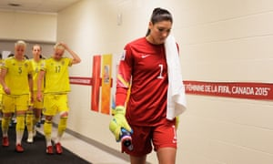 Hope Solo after the 0-0 draw with Sweden.