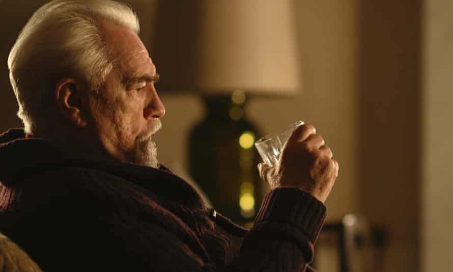 Logan Roy enjoys a wee dram of scotch.
