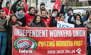 Independent Workers Union protesters