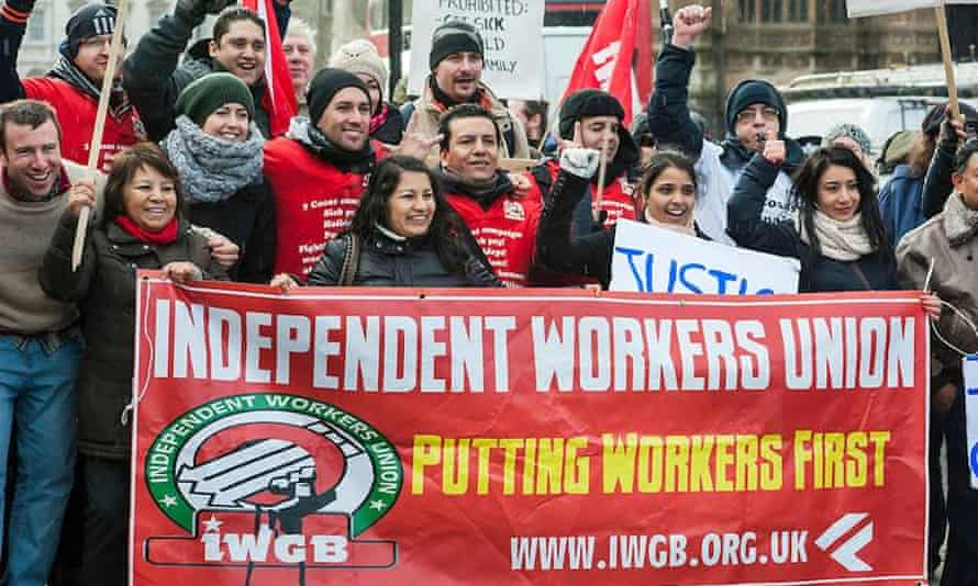 Members of the IWGB on strike.