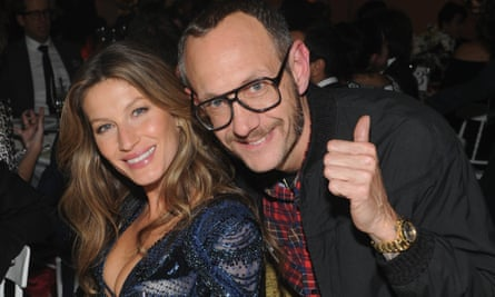 Terry Richardson with the model Gisele Bundchen in New York in 2013.