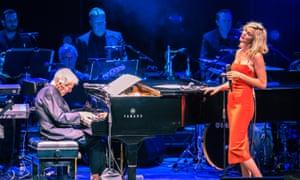 Burt Bacharach and Joss Stone performing at Hammersmith Apollo.
