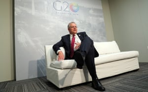 Scott Morrison at the G20 meeting of finance ministers in Buenos Aires, Argentina, on Sunday.